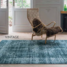 ORIGIN RUG COLLECTION SILK VISCOSE VINTAGE RUG TEAL