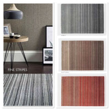 ORIGIN RUG COLLECTION FINE STRIPES CONTEMPORARY WOOL RUG RED