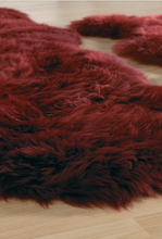 Sheepskin Rug Quad Extra Large in Wine Red