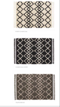 origin rug collection Morocco shaggy polyprop rug ivory taupe black