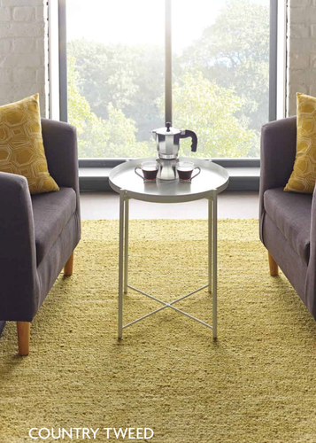 Origin Luxury Textured Wool Rug Country Tweed Gold