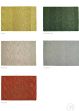 Origin Country Tweed Luxury Wool Rug Colour Chart