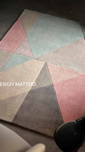 origin design matters abstract polyester non shed rug