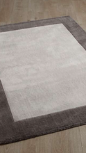 Origin Borders Wool Rug in Grey 3 Sizes