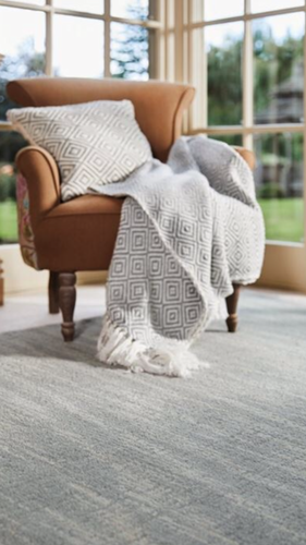 Origin Hand Tufted Wool Grained Rug Country Tweed Grey