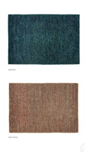 Origin Jute Loop Hand Woven Rug Natural/ Denim