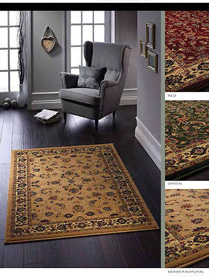 Gracie Flat Pile Traditional Design Rug 3  Colours 4 Sizes