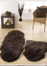 Origin Authentic Luxury Sheepskin Rug Chocolate Brown Double, Single Quad