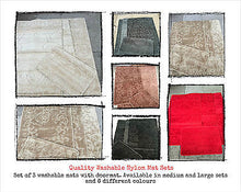 QUALITY NYLON WASHABLE ROMANY MAT SETS 3 RUGS+DOORMAT HARROGATE MEDIUM