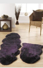 origin sheepskin rug single plum