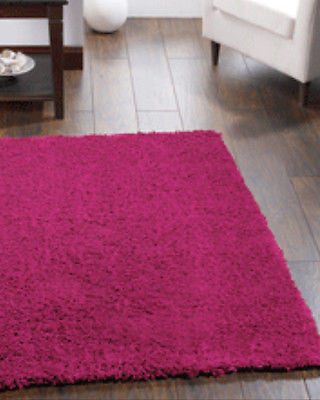 Chicago Great Value Shaggy Rug Pink
