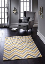 origin rug collection yellow cabone wool rug zig zag