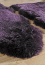 origin australian wool sheepskin rug purple singlev