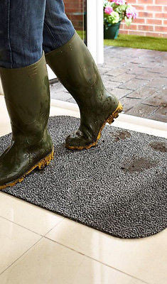 Grimebuster Washable Doormat Grey by HugRug