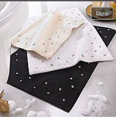 Luxury Cotton Diamanté Bath Mat