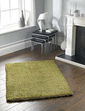Chicago Sparkle Twist Shaggy Rug Olive Various Colours & Sizes