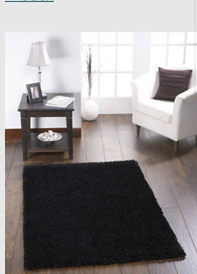 Black Chicago Shaggy Rug Quality Value Rugs