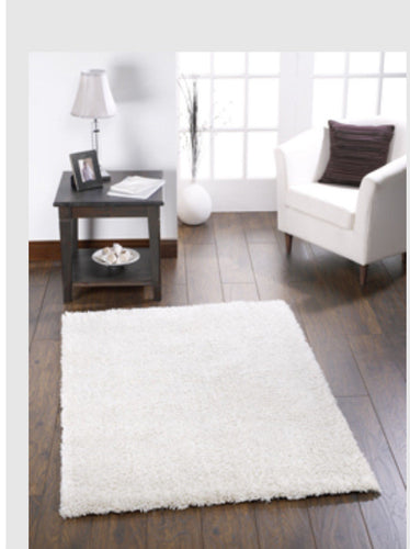 chicago affordable shaggy rug white