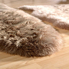 "Australian Sheepskin Wool Rug Double Beige 70""x 25"" Approx"