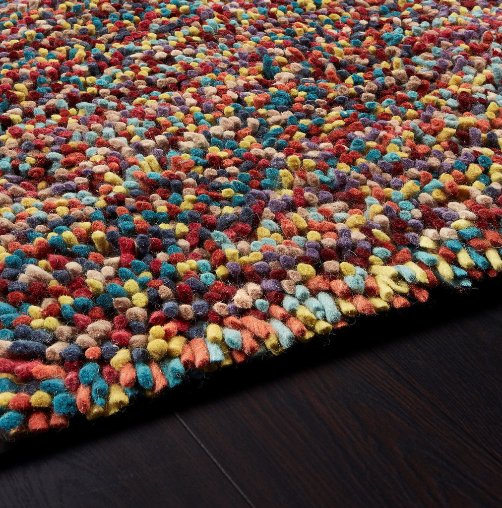 Savina Rocks Shaggy Contemporary Felted Wool Jellybean Rug