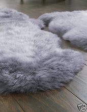 Australian Sheepskin Wool Rug Single Silver 34X 24 inch  NEW