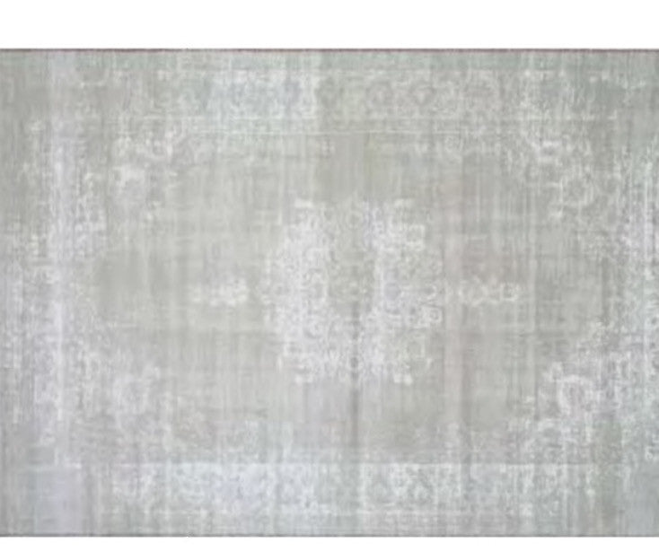 Origin Vintage Bohemian Traditional Faded Look Design Ivory/grey