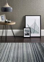Origin Rug Collection Fine Stripes Wool Rug Grey