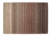 origin rug collection fine stripes wool rug brown