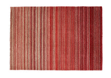 origin by rug guru fine stripes wool rug red