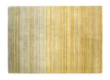 Origin Fine Stripes wool Rug Ochre Yellow