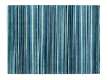 origin rug collection quality wool rug fine stripes blue