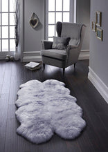 Australian Authentic Luxury Silver Grey Sheepskin Rug Quad 120 x 170cm approx.
