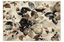 origin watercolour floral rug beige