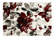 origin watercolour floral rug red