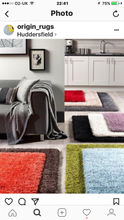 Chicago Shaggy Sparkle Rug Red Various Sizes More Colours