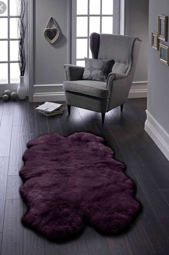 Origin Luxury Merino Wool Sheepskin Rug Purple