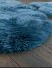 origin australian sheepskin rug teal