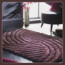 Designer Lux Carved Glamour Shaggy Rug 3 Sizes Grey, Mauve & Natural
