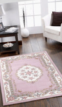 Pale Pink Abusson Wool Rug