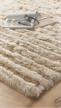 Designer Lux Carved Shaggy Glamour Dallas Rug 3 Sizes in Grey, Mauve & Natural
