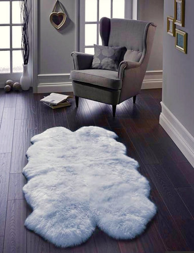 xl sheepskin rug duckegg blue Quad