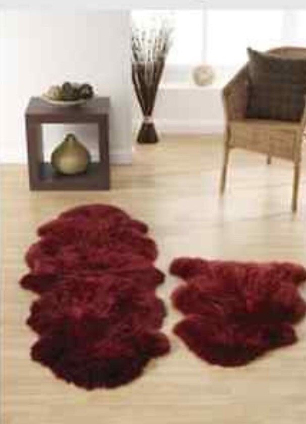 Australian Wool Luxury Sheepskin Rug Double Berry
