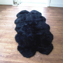 Origin Australian Luxury Sheepskin Rug Black Quad