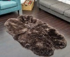 Origin Australian Luxury Sheepskin Rug Extra Large Quad Brown