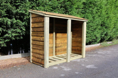 WOODEN LOG STORE - 4FT H X 5FT W (CVLS4X5)