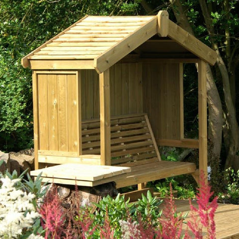 WOODEN COTTAGE ARBOUR – SEATS THREE (CVCA102)