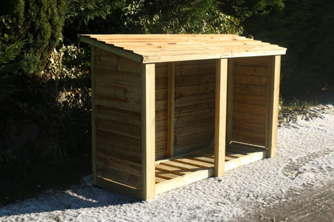 WOODEN LOG STORE - 4 FT H X 6 FT W (CVLS4X6)