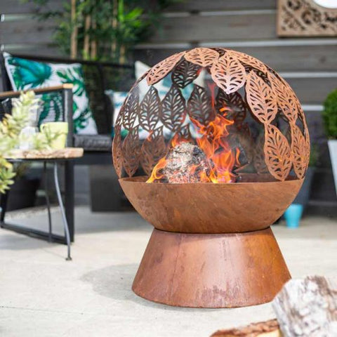 Autumn Leaves Fire Globe