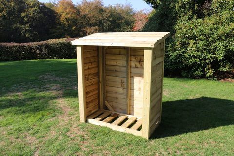 WOODEN LOG STORE - 5FT H X 4FT W (CVLS5X4)
