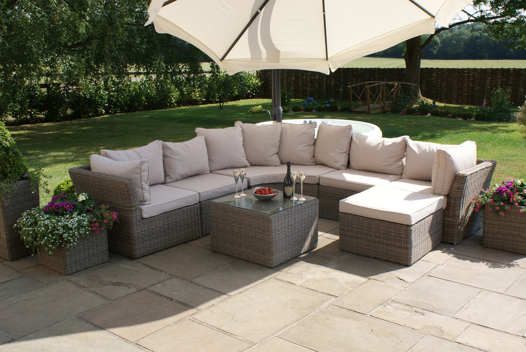 Rattan Winchester Rounded Corner Sofa Garden Furniture